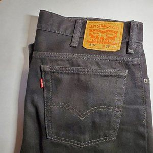 Levi's 516 black boyfriend jeans W36 L32